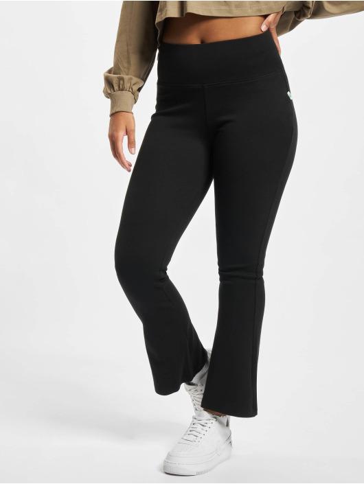 Urban Classics Leggings/Treggings Ladies Organic Interlock Bootcut czarny