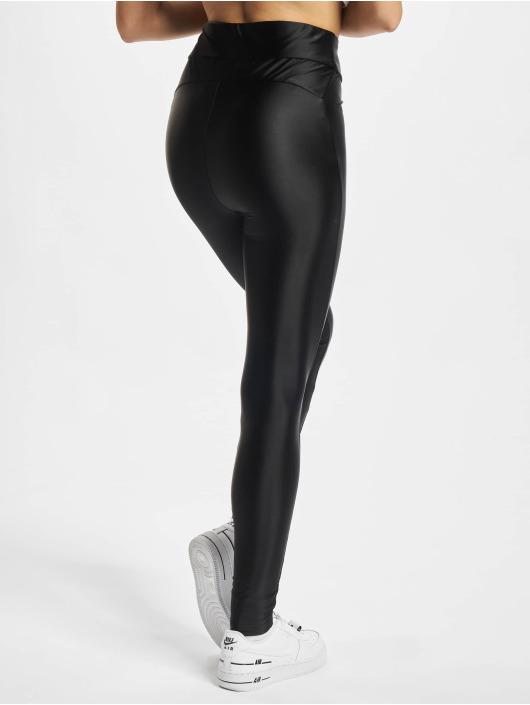 Urban Classics Leggings/Treggings Ladies Highwaist czarny