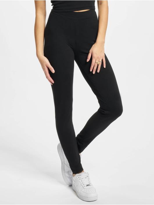 Urban Classics Leggings/Treggings Ladies Lace Hem czarny