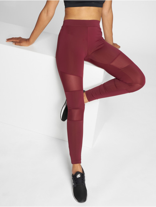 Urban Classics Leggings/Treggings Tech Mesh czerwony