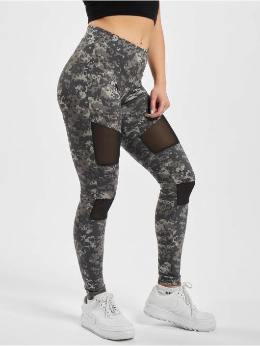 Urban Classics Leggings/Treggings Ladies Camo Tech Mesh kamuflasje