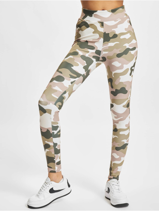 Urban Classics Leggings/Treggings Ladies High Waist Camo Tech kamuflasje