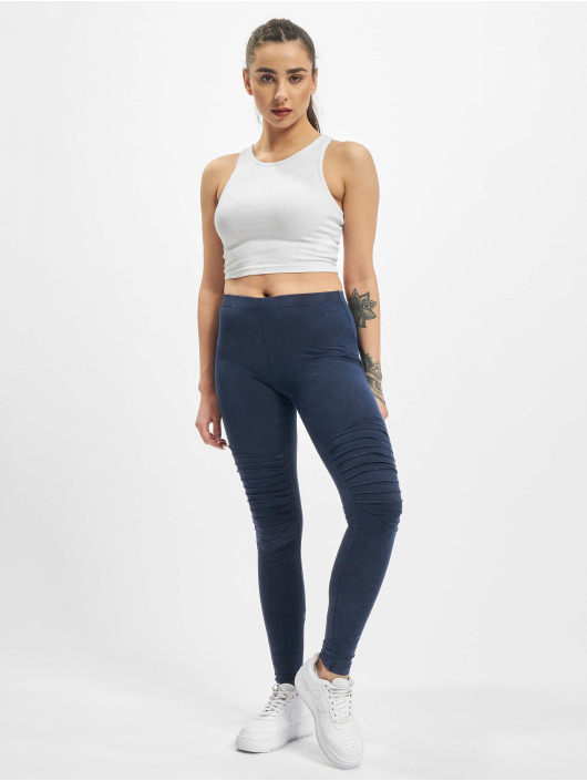 Urban Classics Leggings/Treggings Denim Jersey niebieski