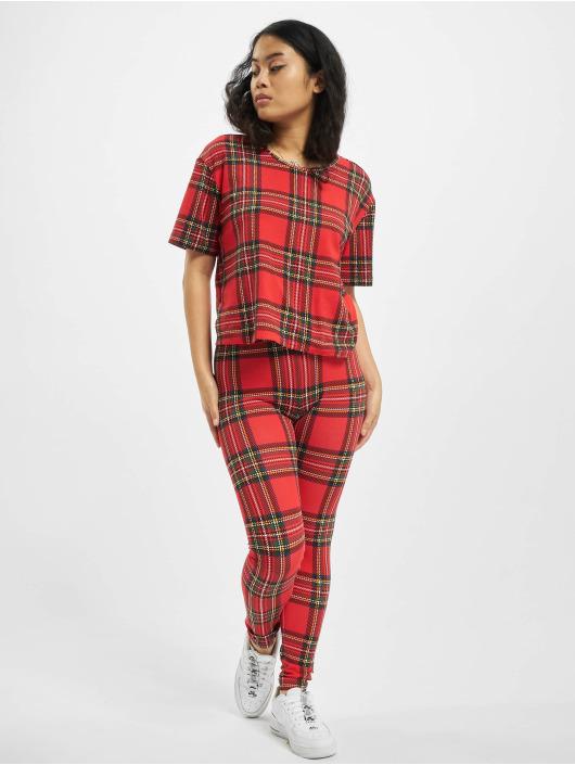 Urban Classics Leggings/Treggings Ladies AOP Tartan rød
