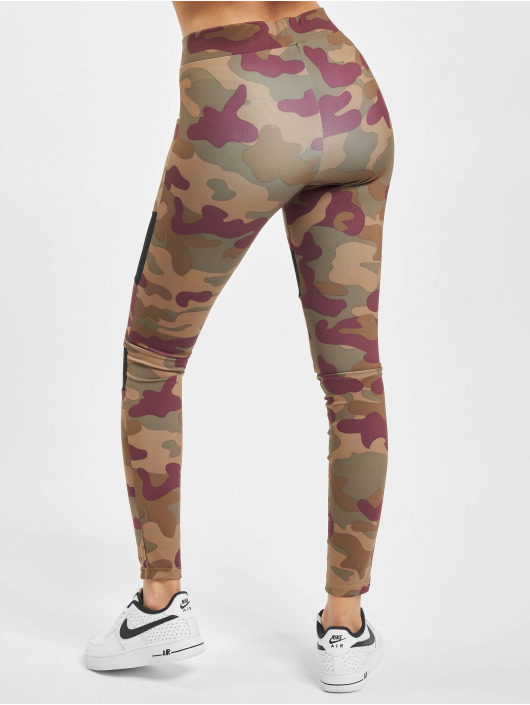 Urban Classics Leggings/Treggings Ladies Tech Mesh rød