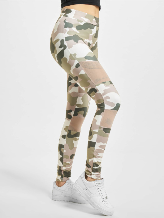 Urban Classics Leggings/Treggings Classics Camo Tech Mesh rosa