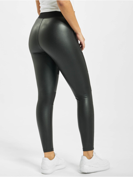 Urban Classics Leggings/Treggings Ladies Fake Leather Tech sort