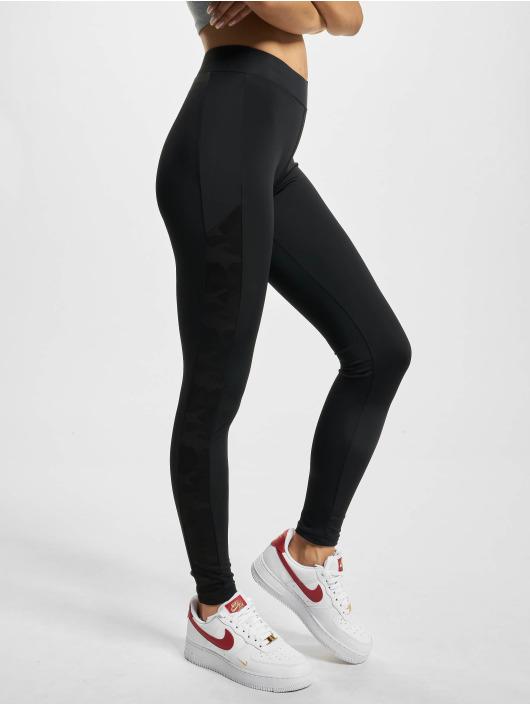Urban Classics Leggings/Treggings Jacquard Camo Striped svart