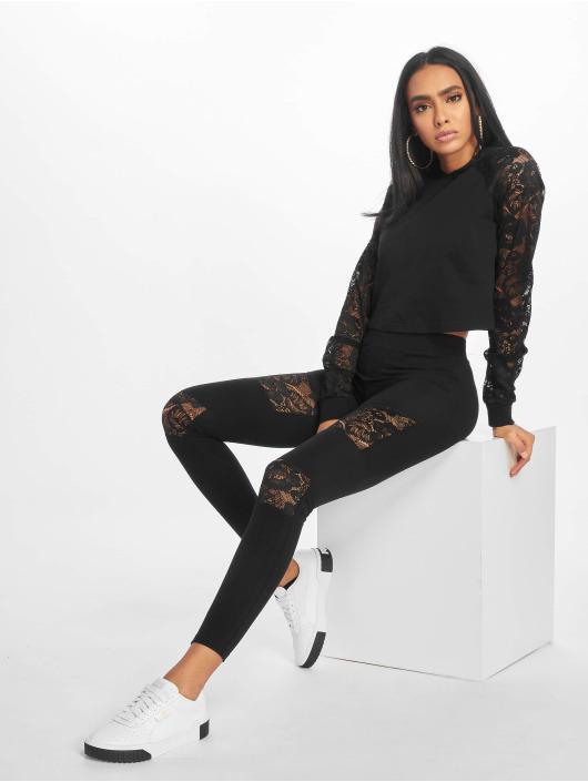 Urban Classics Leggings/Treggings Laces Inset svart