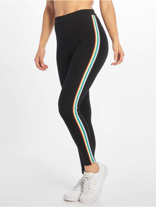 Urban Classics Leggings/Treggings Multicolor Side Taped svart