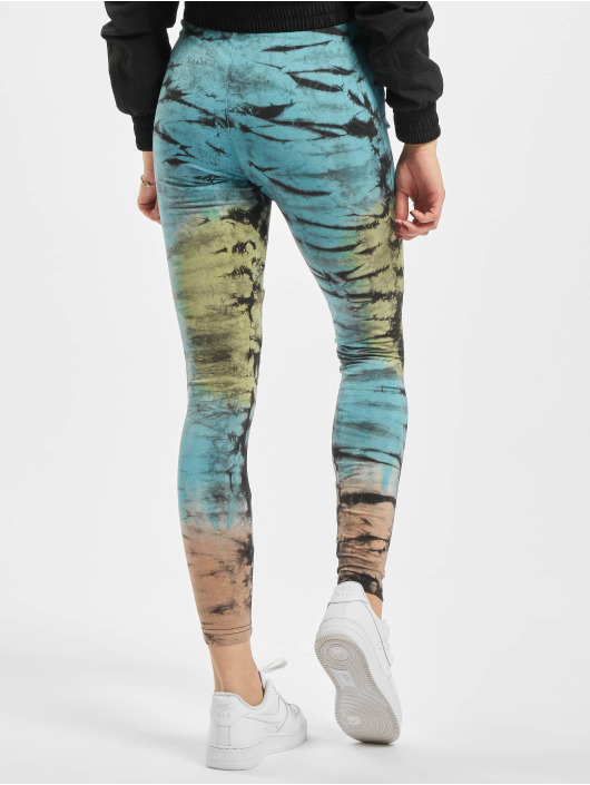 Urban Classics Leggings/Treggings Cotton Tie Dye High Waist svart
