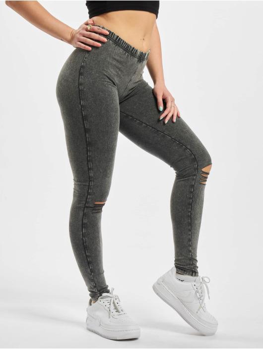 Urban Classics Leggings/Treggings Cutted Knee szary