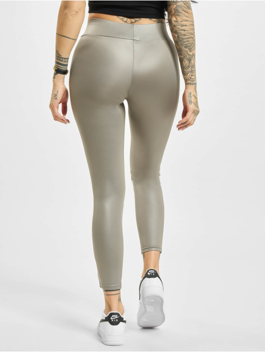 Urban Classics Leggings/Treggings Imitation Leather szary