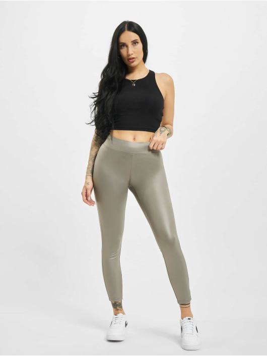 Urban Classics Leggingsit/Treggingsit Imitation Leather harmaa