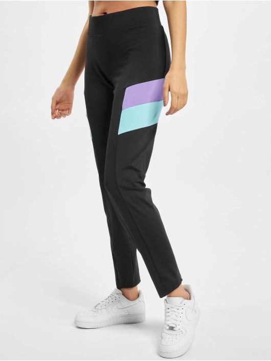 Urban Classics Leggingsit/Treggingsit Ladies Color Block musta
