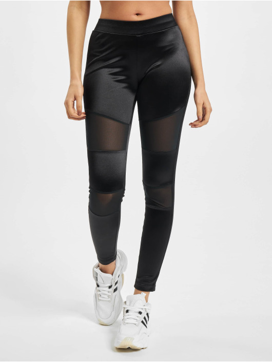 Urban Classics Leginy/Tregginy Ladies Shiny Tech Mesh čern
