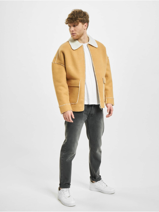 Urban Classics Lightweight Jacket Bonded Oversized Sherpa beige