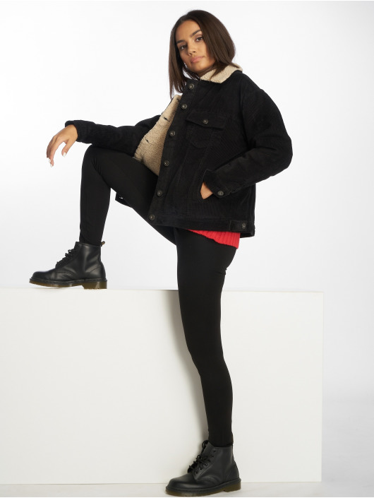 Urban Classics Lightweight Jacket Oversize Sherpa Corduroy black