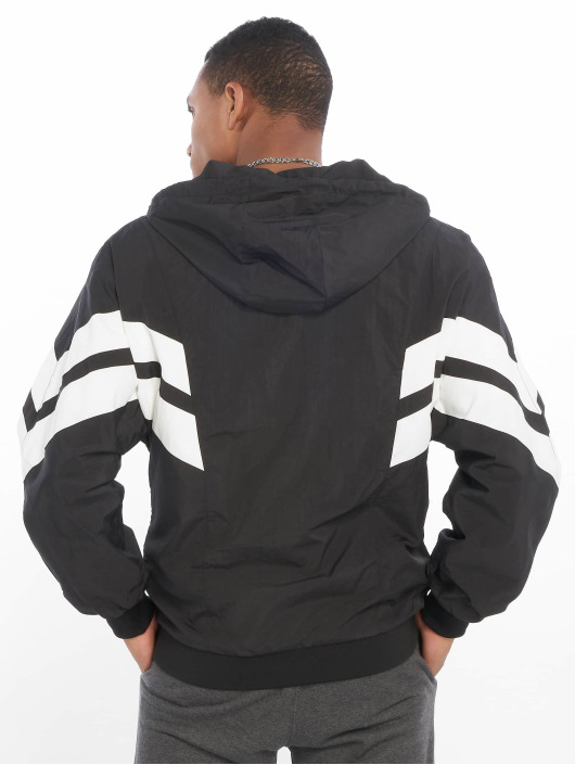 Urban Classics Lightweight Jacket Crinkle Panel black