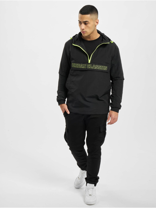 Urban Classics Lightweight Jacket Contrast Pull Over black