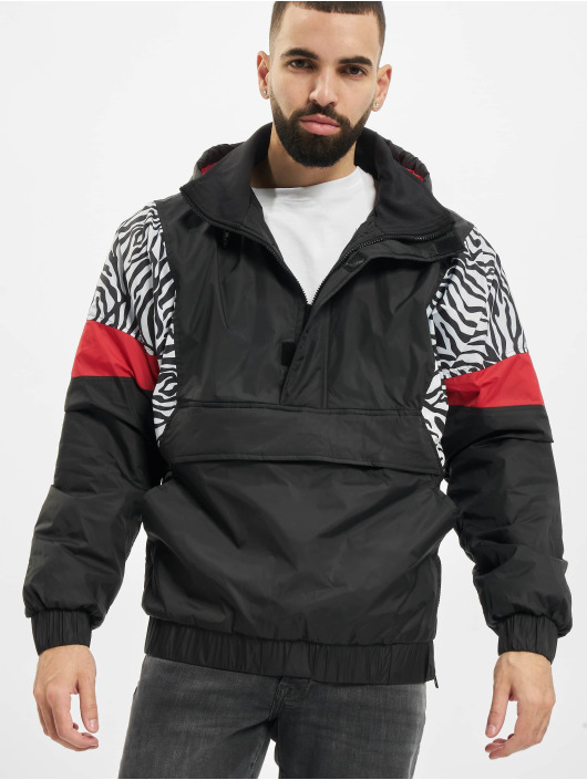 Urban Classics Lightweight Jacket Animal Mixed Pull Over black