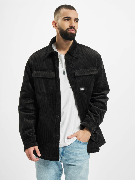 Urban Classics Lightweight Jacket Corduroy Shirt black