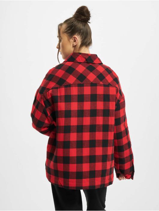 Urban Classics Lightweight Jacket Ladies Flanell Padded Overshirt black
