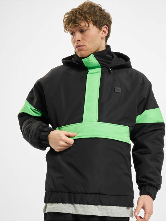 Urban Classics Lightweight Jacket 3-Tone Neon Mix Pull Over black