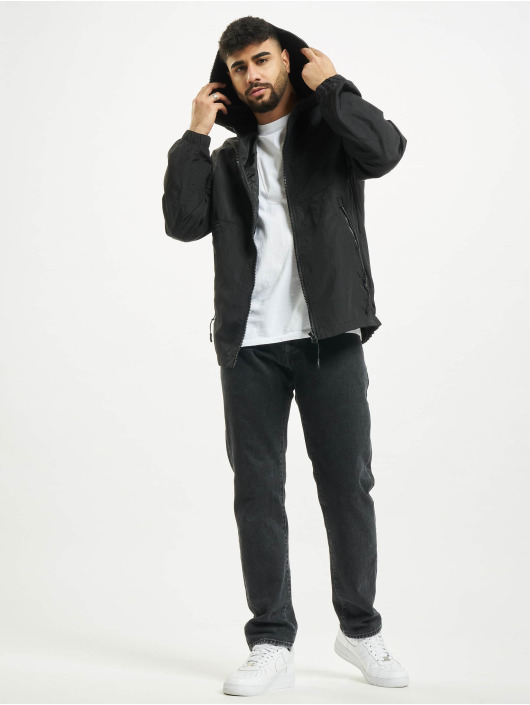 Urban Classics Lightweight Jacket Full Zip Nylon Crepe black