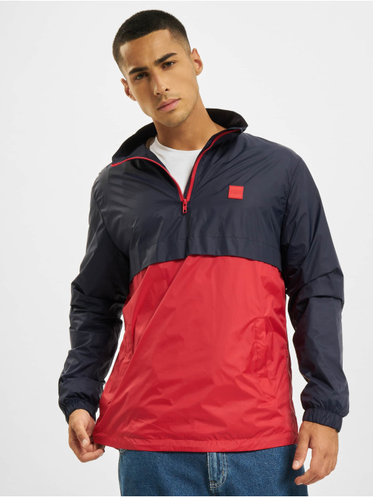 Urban Classics Lightweight Jacket Stand Up Collar Pull Over blue