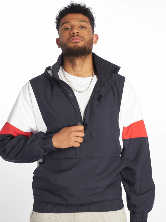 Urban Classics Lightweight Jacket Light 3-Tone Pull Over blue