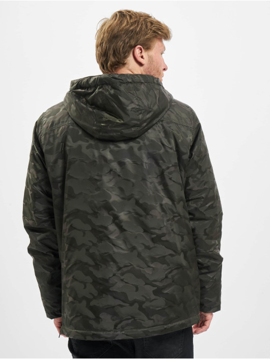Urban Classics Lightweight Jacket Padded Camo Pull Over camouflage