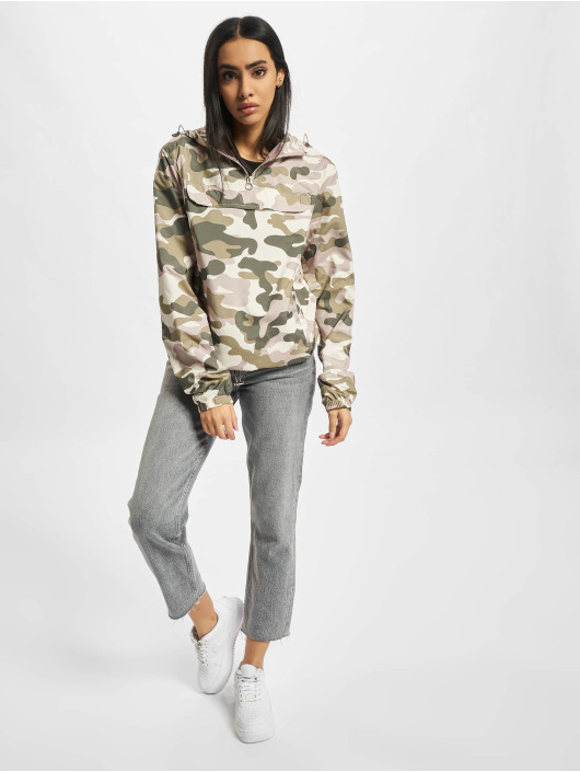 Urban Classics Lightweight Jacket Ladies Camo Pull Over colored