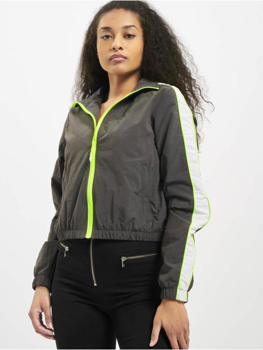 Urban Classics Lightweight Jacket Ladies Short Piped grey