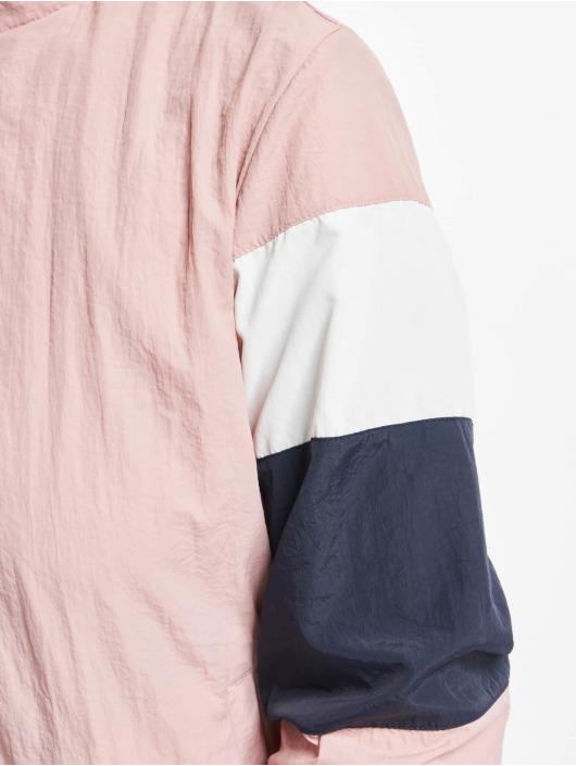 Urban Classics Lightweight Jacket 3-Tone Crinkle rose