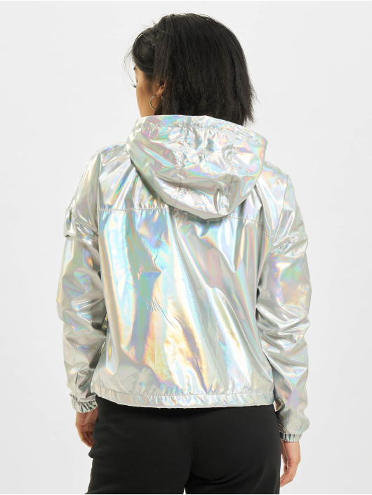 Urban Classics Lightweight Jacket Holographic Pull Over silver