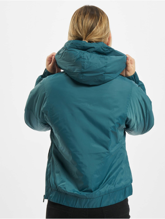Urban Classics Lightweight Jacket Ladies Panel Padded Pull Over turquoise