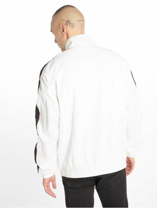 Urban Classics Lightweight Jacket Striped Sleeve Crinkle white