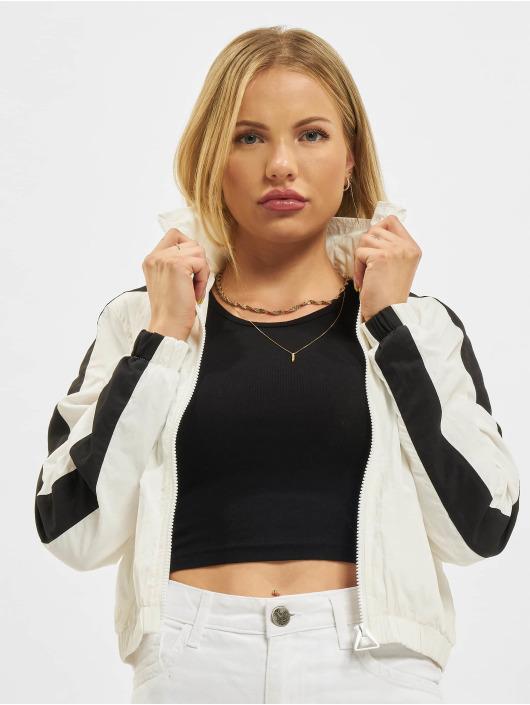 Urban Classics Lightweight Jacket Short Striped Crinkle white