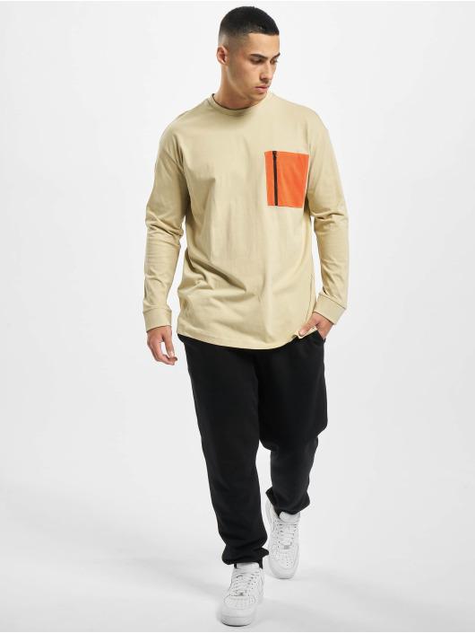Urban Classics Longsleeve Boxy Big Contrast Pocket beige