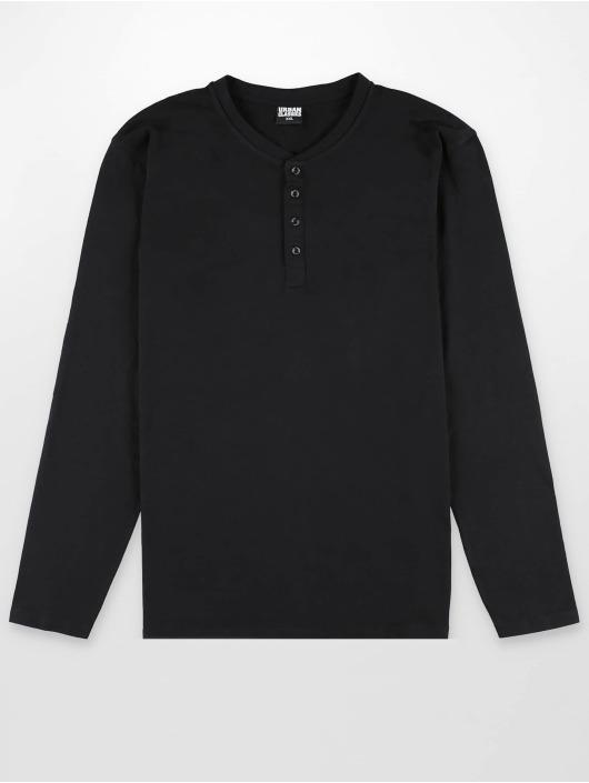 Urban Classics Longsleeve Basic Henley black