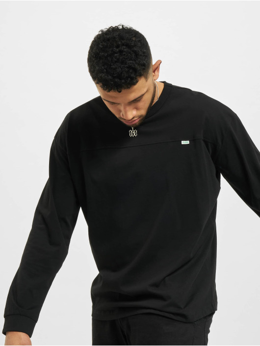 Urban Classics Longsleeve Organic Cotton Short Curved Oversized black