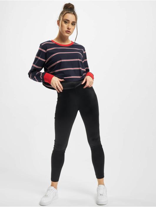 Urban Classics Longsleeve Ladies Short Yarn Dyed Skate Stripe LS blau