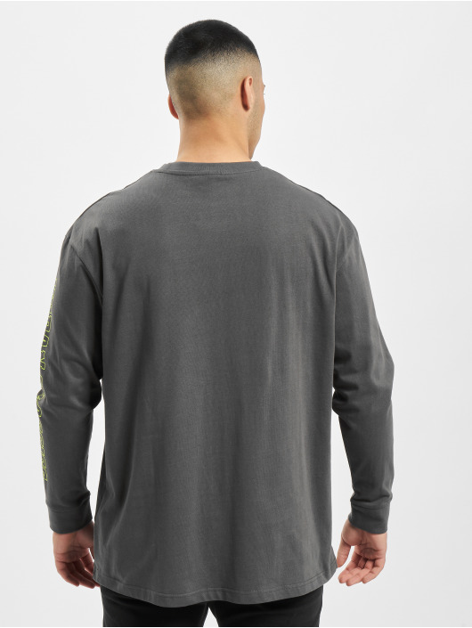 Urban Classics Longsleeve Neon Logo Boxy Pocket grey