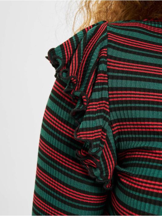 Urban Classics Longsleeve Rib Striped Volant grün