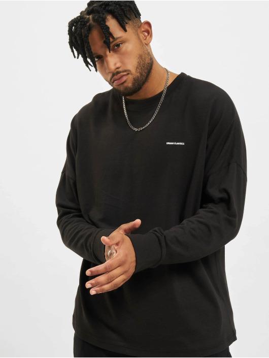 Urban Classics Longsleeve Oversize Cut On Sleeve Logo schwarz