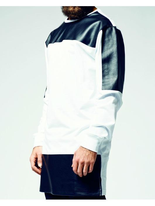 Urban Classics Longsleeve Leather Imitation Block weiß