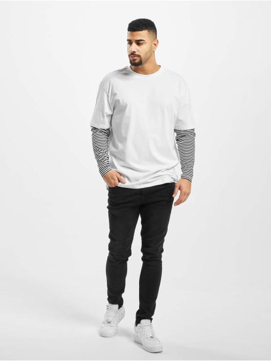 Urban Classics Longsleeve Oversized Double Layer Striped Tall weiß