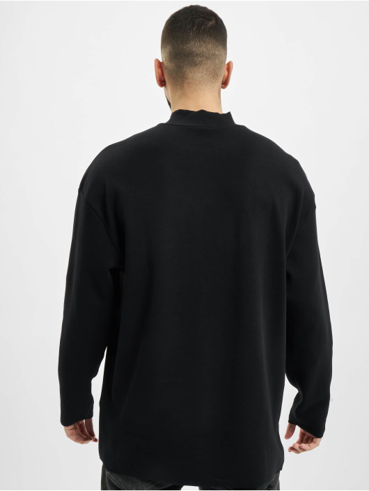 Urban Classics Longsleeve Peached Open Edge Interlock Winter LS zwart