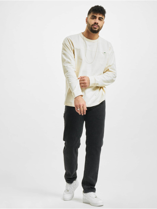 Urban Classics Longsleeves Organic Cotton Short Curved bezowy